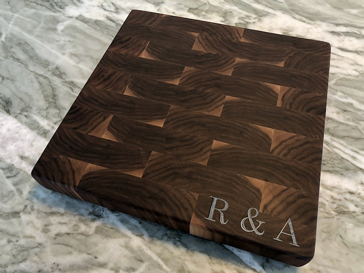 Black Walnut & Corner Personalized Epoxy Letter