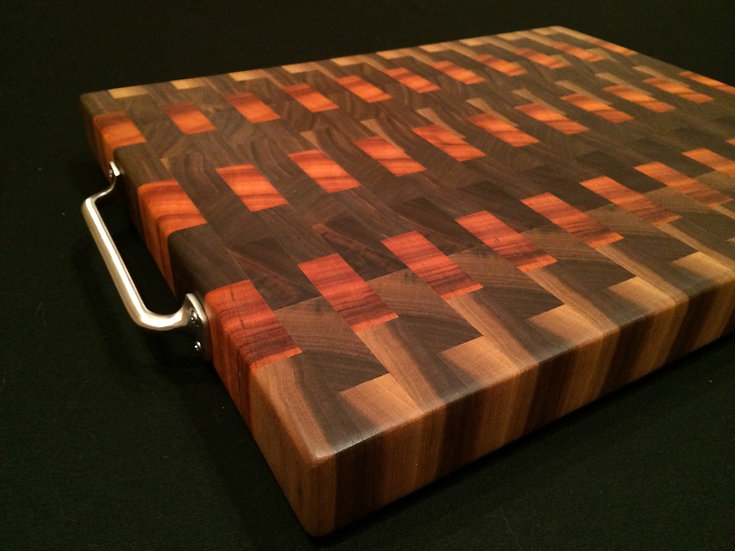 Tigerwood and Black Walnut End Grain Cutting Board