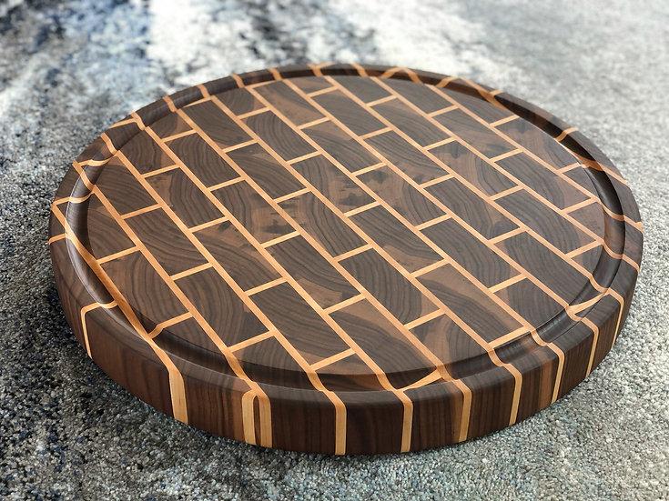 Round Black Brick Cutting Board