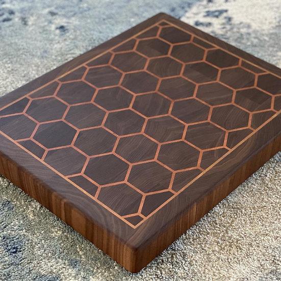 Hexagon Black Walnut & Cherry