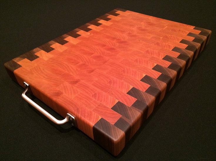 Staggered Cherry & Black Walnut End Grain Cutting Board