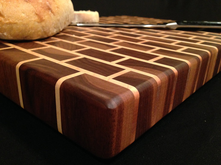 Black Brick Cutting Board (Small Bricks)