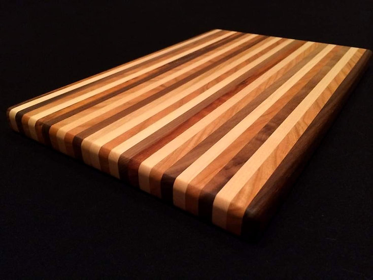Mixed Woods Edge Grain Cutting Board