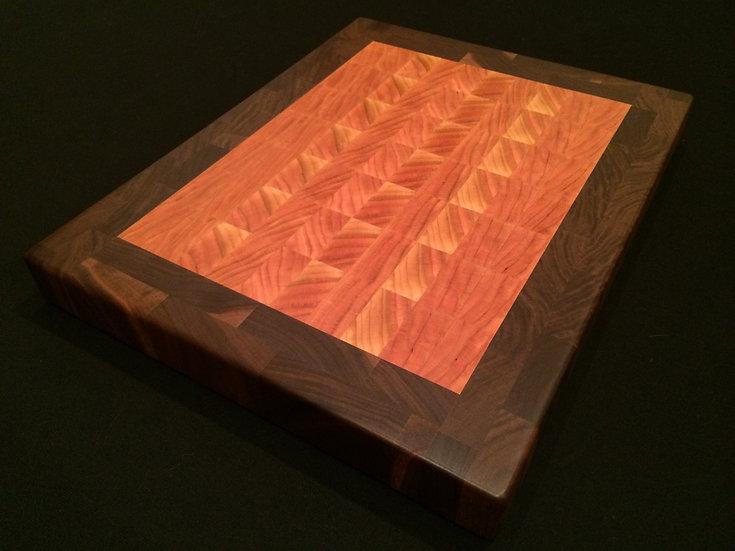 Cherry with Black Walnut Frame End Grain Cutting Board