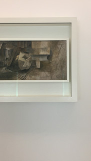 Verre, pomme, livres / Pablo Picasso