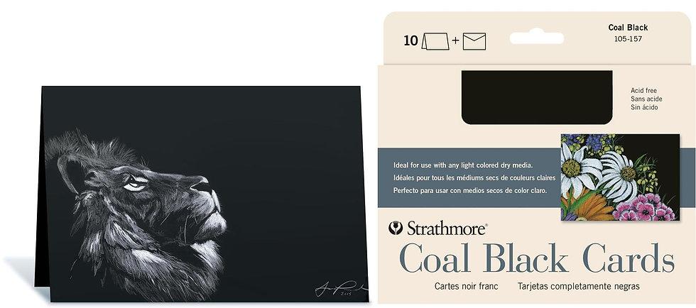 Strathmore Coal Black Cards黑色無酸畫紙卡(含信封)
