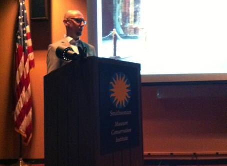 2012 Pedro Cuni 受邀至 Smithsonian Museum Conservation Institute 演講