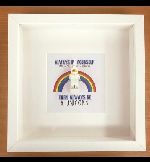 Unicorn Lego Box Frame