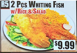 Crown Fried Chicken - 2 Piece Whiting Fish with Rice and Salad.jpg