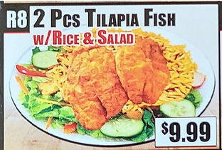 Crown Fried Chicken - 2 Piece Tilapia Fish with Rice and Salad.jpg
