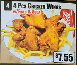 Crown Fried Chicken - 4 Piece Chicken Wings with Fries and Soda.jpg