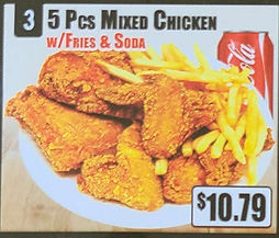 Crown Fried Chicken - 5 Piece Mixed Chicken with Fries and Soda.jpg