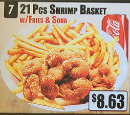 Crown Fried Chicken - 21 Piece Shrimp Basket with Fries and Soda.jpg
