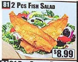 Crown Fried Chicken - 2 Piece Fish Salad.jpg