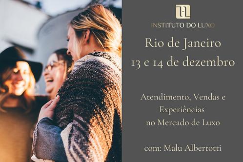 RIO 13 E 14/12 ATENDIM, VENDAS E EXP. NO MERCADO DE LUXO: ESTRATÉGIAS E