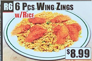 Crown Fried Chicken - 6 Piece Wing Zings with Rice.jpg