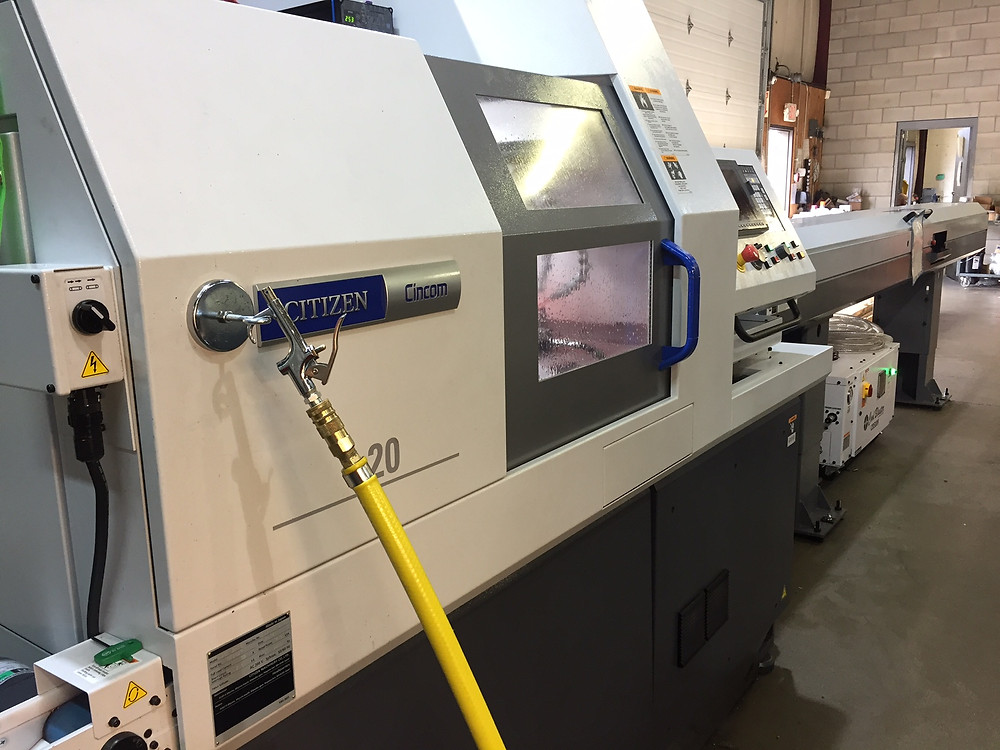 1 of our 2 new state of the art CNC Swiss Machines