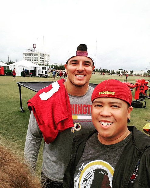 Hanging out at #Redskins Training Camp t