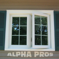 Casement windows with the grills