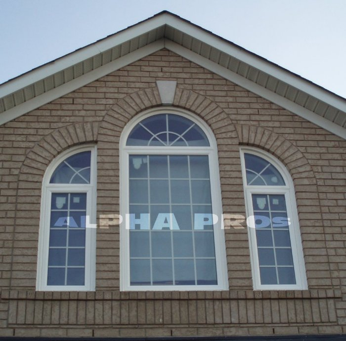 Shaped windows with the grills