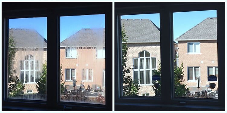 Window before and after repair