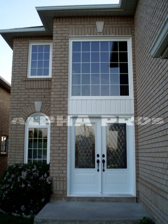 Front Door with Transome