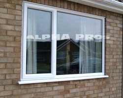 Aluminum capping on the window