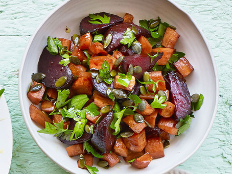 Honey Roasted Beetroot and Carrots