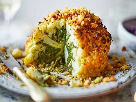 Roasted Stuffed Cauliflower