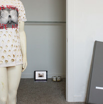 Come On Strong (t-shirt) (link), Michael Stablein, Jr. (video, shoes, sculpture on right)