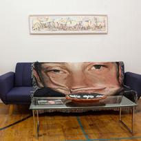 Maren Less (drawing), Ben Peterson (photograph), Michael Stablein, Jr. (blanket), Allan Willoughby (ceramic platter)