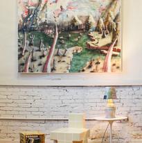 Orlando Saverino-Loeb (painting), Angel Otero (ceramic crate), Carl Durkow (chair), Sean Gerstley (lamp)