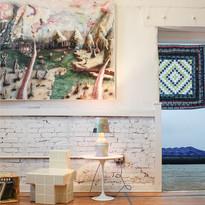 Orlando Saverino-Loeb (painting), Carl Durkow (chair), Sean Gerstley (lamp), Dustin Spence (quilt)