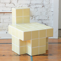 Carl Durkow Chair, 2019 Ceramics tile, grout, wood