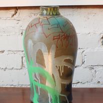 Maksudur Rahman Painted Vase, 2020 Spray-paint enamel on found 20th C. pottery vase