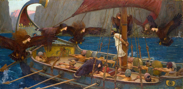 Odysseus and the Sirens. An 1891 painting by John William Waterhouse.