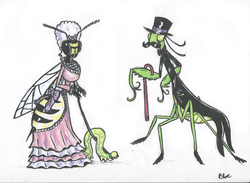 Lady Wasp and Sir Mantis