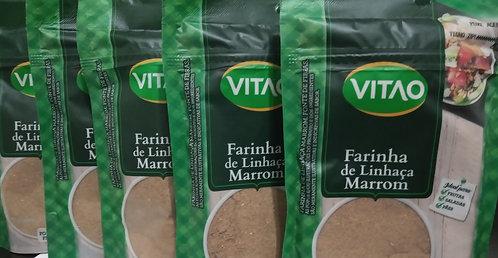 KIT COM 05 FARINHAS DE LINHACA MARROM