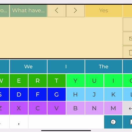 Your colour-coded keyboard as a scanning guide