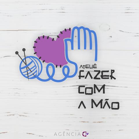 CRIAÇÃO DE LOGOTIPO PARA ATELIÊ FAZER COM A MÃO