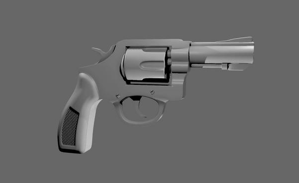 Revolver Model in MAYA.png