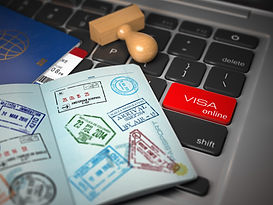 visa-online-application-concept-open-pas