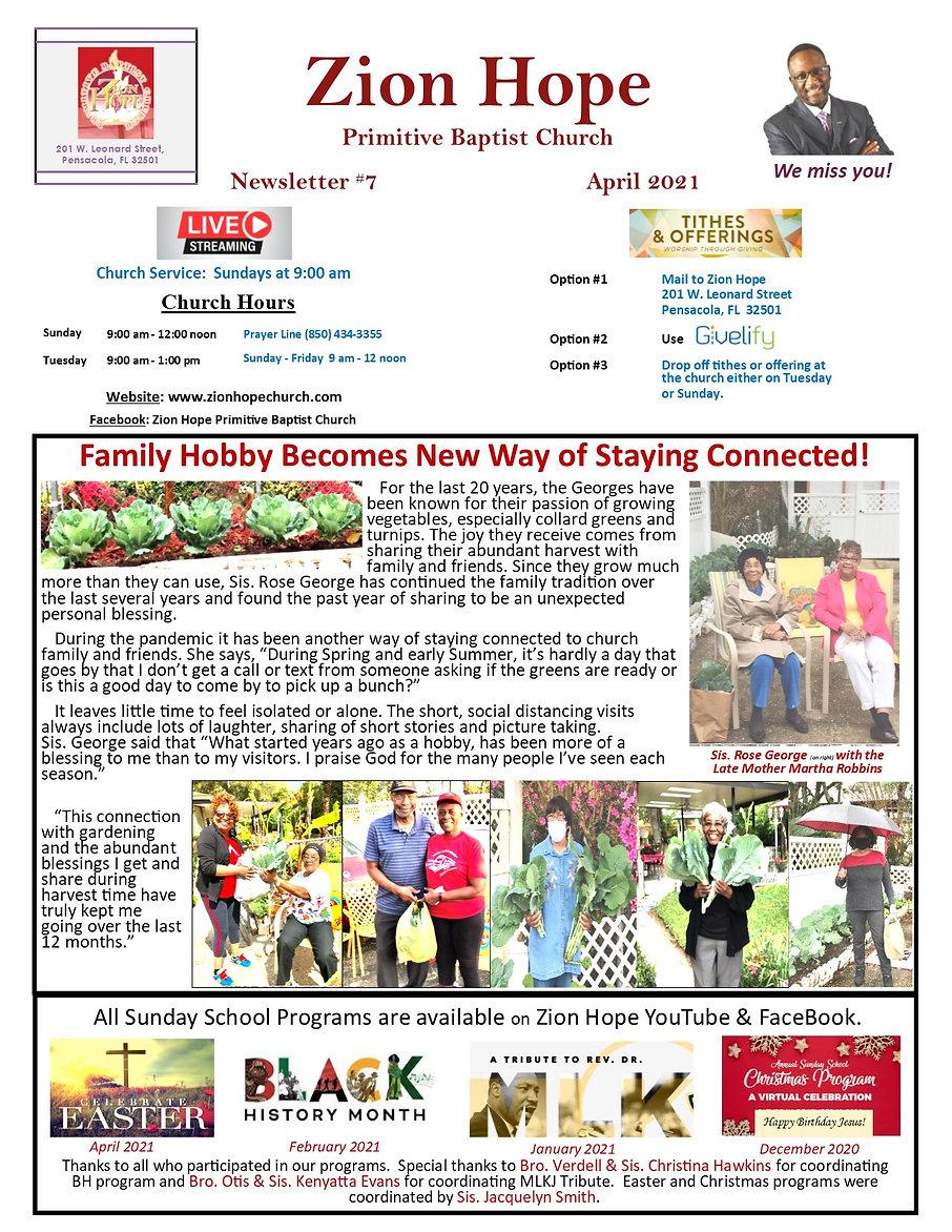 Church Quarterly Newsletter    Apr 2021.