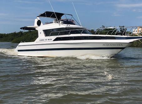 A maioria dos meus clientes não usam o barco para bagunça