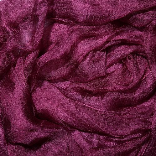 Hand dyed Margilan silk - 1 yard, Onion