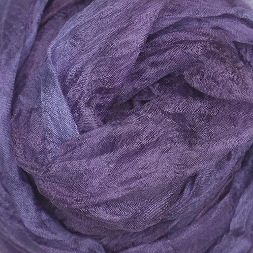 Hand dyed Margilan silk -1 yard, Violet