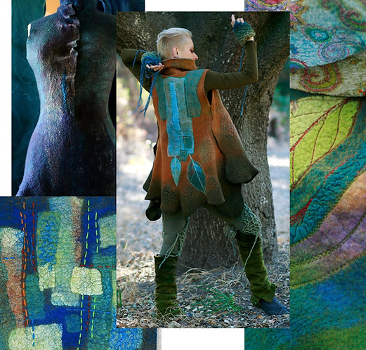Introduction to Felted Garment Making, 9-week course, April 20 - June 22