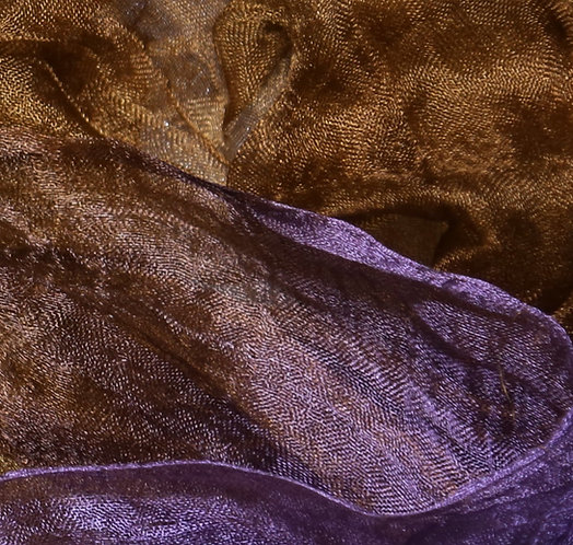 Hand dyed Margilan silk - 3 yards, Lilac and Lion