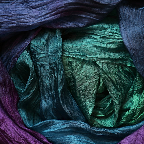 Hand dyed Margilan silk, 3 yards, Rich and Glam