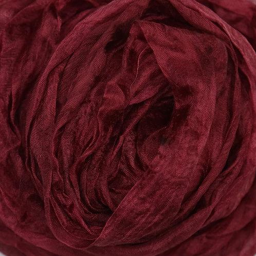 Hand dyed Margilan silk - 1 yard, Wine